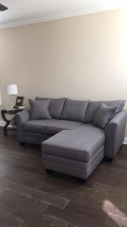 New Gray Sofa from the Nest