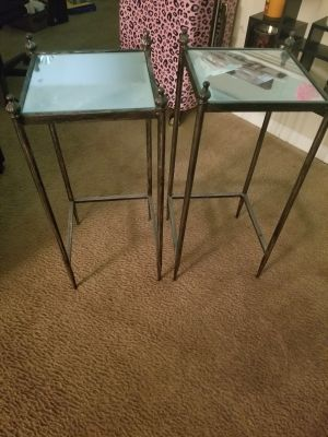 2 Mirror Side Tables