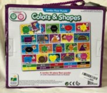 jumbo floor puzzle Color and shapes