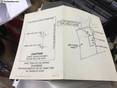 Original antenna install template