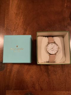 Kate Spade watch with tan brown strap; box included