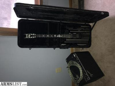 For Sale/Trade: Schecter Diamond Series Synyster Gates Custom-S guitar with case and Fender FM25 DSP 25 watts 2channel Combo amp with 25 ft guitar cord