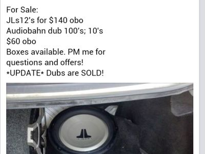 SUBS SALE! AND AMP! all must Go!