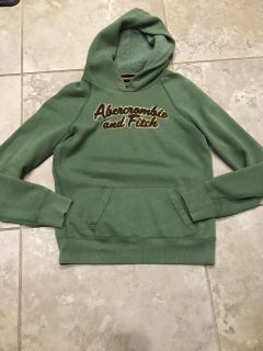 Size L green Abercrombie & Fitch hoodie