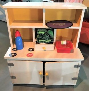 Child's Play Kitchen Stove / China Cabinet - Vintage - Custom Made