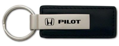 Purchase Honda Pilot Black Leather Keychain / Key fob Engraved in USA Genuine motorcycle in San Tan Valley, Arizona, US, for US $14.61