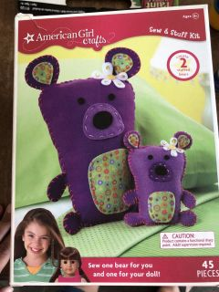 American Girl Doll Sew and Stuff Craft Kit new