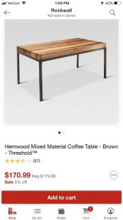 Brand new coffee table and ONE side/end table