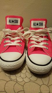 Hot pink All Star Converse Shoes size 8