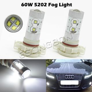Sell 2x High Power 5202/H16/9009/PS24W FF Bulb 60W White 6000K Fog Light Replacement motorcycle in Cupertino, CA, US, for US $44.88