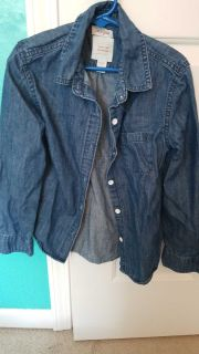 Cat and Jack Jean button diwn size 7/8