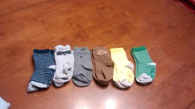 6 pair of size 18 month 24 month socks