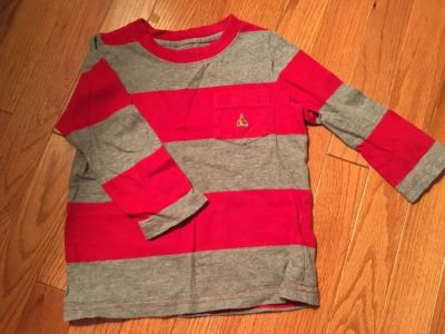 Baby Gap- Gray and red long sleeved shirt 2T
