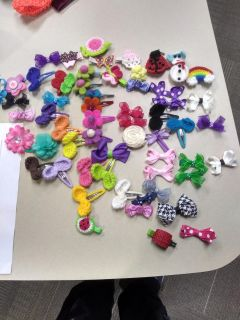 Kids bow clips