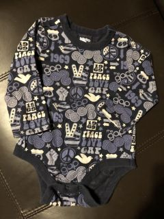 Baby Gap Peace Love Long Sleeve Shirt Onesie Playsuit. Nice Condition. Size 18-24 Months