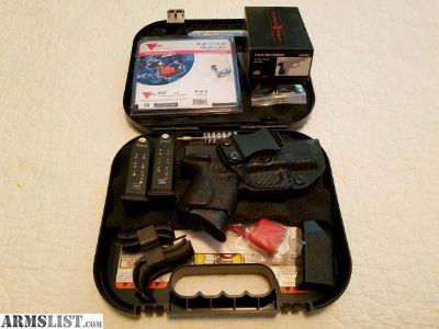 For Sale: Glock 26 Trijicon night sights Crimson Trace Laser