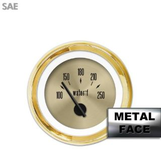 Buy Water Temp Gauge - SAE American Classic Gold VIII, Black Modern Needles, Gold motorcycle in Portland, Oregon, United States, for US $29.25