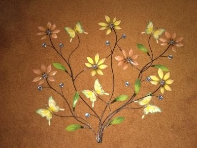 Large Wall Decor (Flowers and Butterflies)