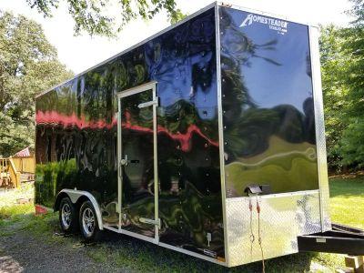 2014 Jeep Wrangler enclosed trailer