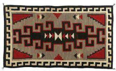 "$200 Navajo Klagetoh Weaving, 7'6"" x 4'4"""