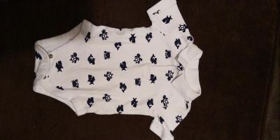 6 to 9 month collared onesie. Excellent condition no staining tearing or rips.