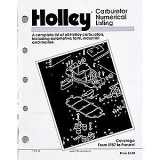 Find Holley 36-168 Holley Carburetor Numerical Listing Book motorcycle in Delaware, Ohio, United States, for US $29.65