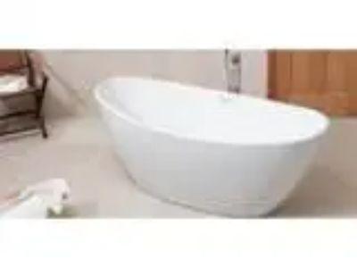 MODETTI Marbella -Inch Freestanding Acrylic Bathtub Glossy Whi