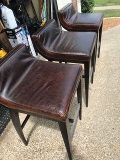 Real leather Bar Stools (3)