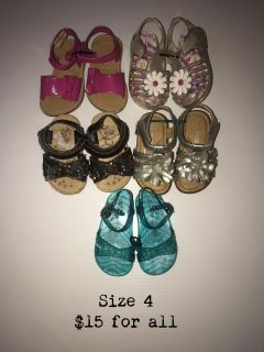 Toddler Size 4 Sandals