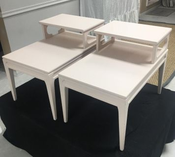 Pair of blush Mid Century Modern Side Tables
