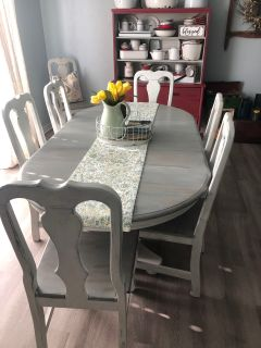 Farmhouse Style Dining Table and Chairs