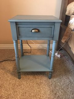 End table/night stand. Slate blue (?) great condition