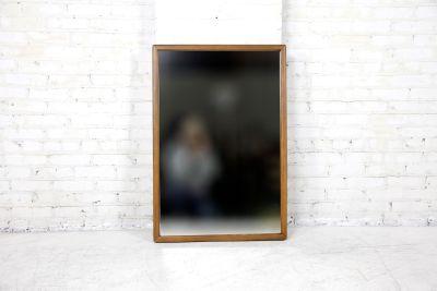 Vintage rectangular wall hanging mirror