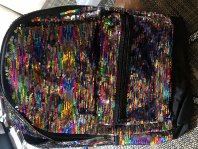 PINK bling Campus backpack new