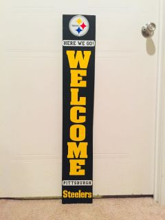 Pittsburg Steelers Pallet Wood Welcome Sign