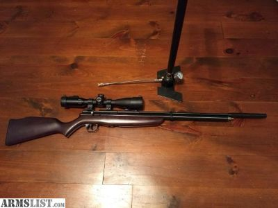 For Sale: New .22 Benjamin Discovery with Pump, TKO Moderator, and scope mounts (Scope not included)