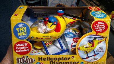 New M&M helicopter dispenser. Hard to find