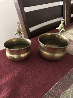 Great little hanging brass pots. Made in India. $8.00