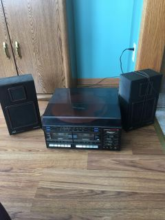 Record Player and Speakers - plays records well and sounds great!