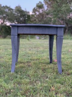 Antiqued Shabby Chic Gray Side Tables