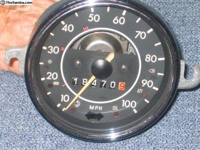 speedometer 100 mph '71