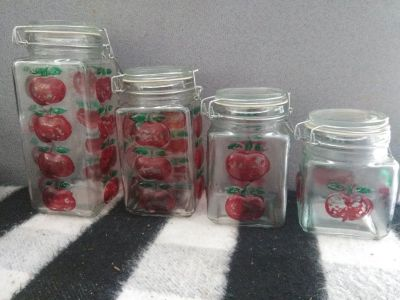 Glass Canister Set Apple Design