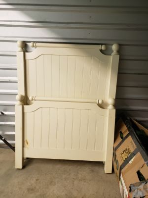 Solid wood single bed frames. Firm on price!