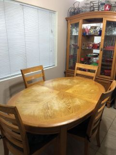 Dining Table & Buffet and Hutch