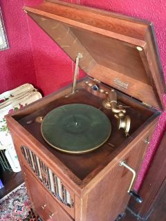 Antique Brunswick Victrola with Records