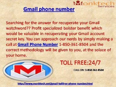 How will Gmail signal facilitate shield your record 1-850-361-8504 ?