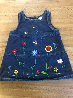 6-9 month girls jean dress