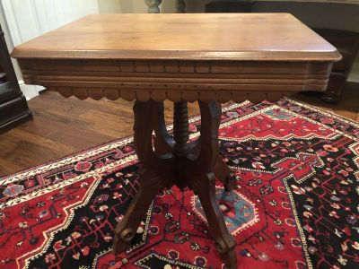 Antique wood side table beautiful!