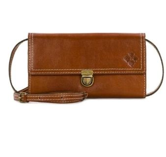 Patricia Nash beautiful Alia tan leather flap crossbody NEW RETAILS for $129