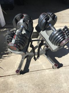 Bowflex Adjustable Weights and Stand